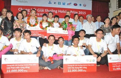 Rice paper cake drying device wins Holcim prize