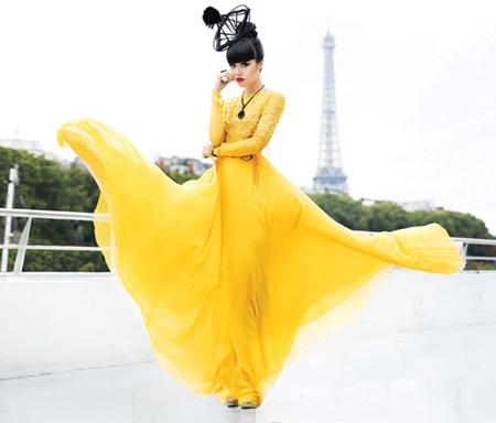 Jessica Minh Anh brings her floating catwalk to River Seine
