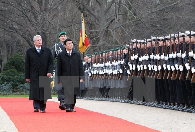 Vietnam's President hails growing trade ties, friendship with Germany on visit