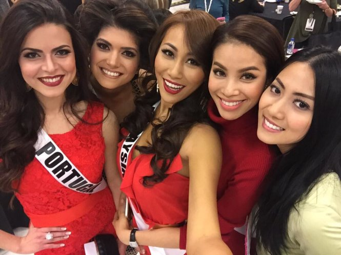 Pham Huong arrvies in Las Vegas for Miss Universe finals, miss universe 2015, pham huong, vietnam