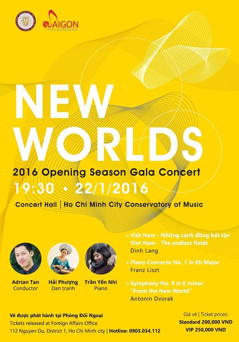 """Saigon Philharmonic Orchestra to perform in """"New worlds"""" concert"""