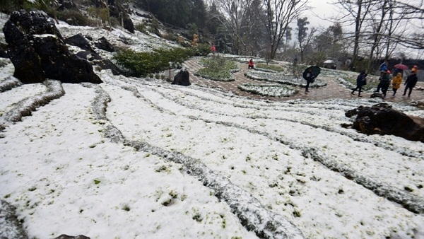 Snowfall draws over 10,000 visitors to Sapa, snow, sapa, Vietnam guide, Vietnam airlines, Vietnam tour, tour Vietnam, Hanoi, ho chi minh city, Saigon, travelling to Vietnam, Vietnam travelling, Vietnam travel, vn news