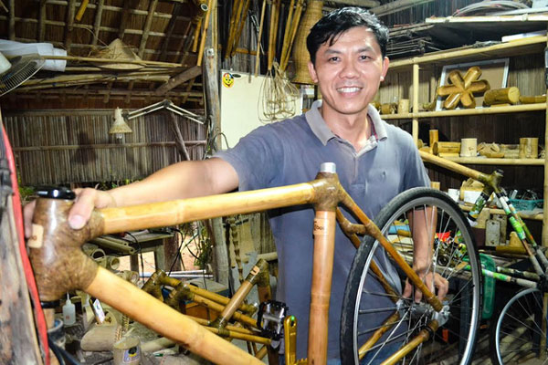 Bamboo bikes, bamboo products, environmentally-friendly products, Vietnam economy, Vietnamnet bridge, English news about Vietnam, Vietnam news, news about Vietnam, English news, Vietnamnet news, latest news on Vietnam, Vietnam