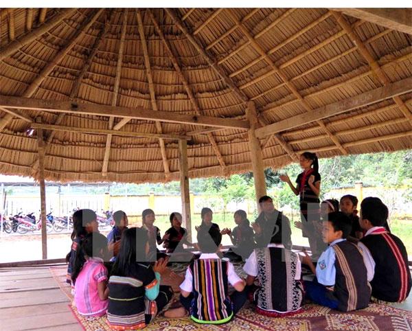 Guol communal house, cultural symbol of Co Tu ethnic
