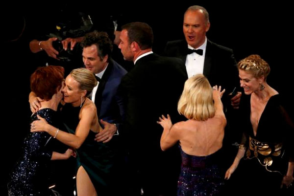 'Spotlight' takes top Academy Award, #OscarsSoWhite other big winner