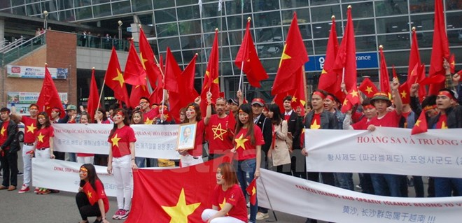 Vietnamese in RoK protest China's illegal acts in East Sea, china, vietnam, south china sea, social news, vietnamnet bridge, english news, Vietnam news, news Vietnam, vietnamnet news, Vietnam net news, Vietnam latest news, vn news, Vietnam breaking news