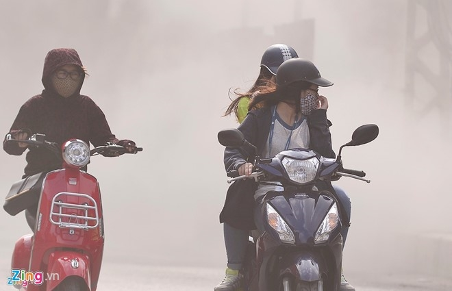 Hanoi under a polluted cloud, pollution, environmental news, sci-tech news, vietnamnet bridge, english news, Vietnam news, news Vietnam, vietnamnet news, Vietnam net news, Vietnam latest news, Vietnam breaking news, vn news