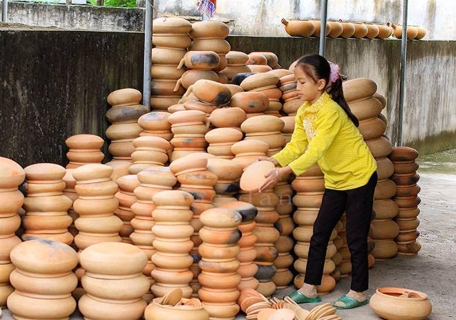 Clay pot making village in central Vietnam