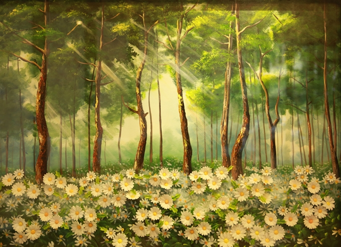 Artist presents paintings that blossom from canvas, entertainment events, entertainment news, entertainment activities, what's on, Vietnam culture, Vietnam tradition, vn news, Vietnam beauty, news Vietnam, Vietnam news, Vietnam net news, vietnamnet news