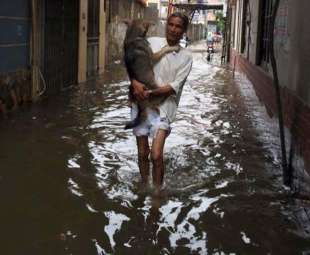 Unbelievable images after downpours in Hanoi