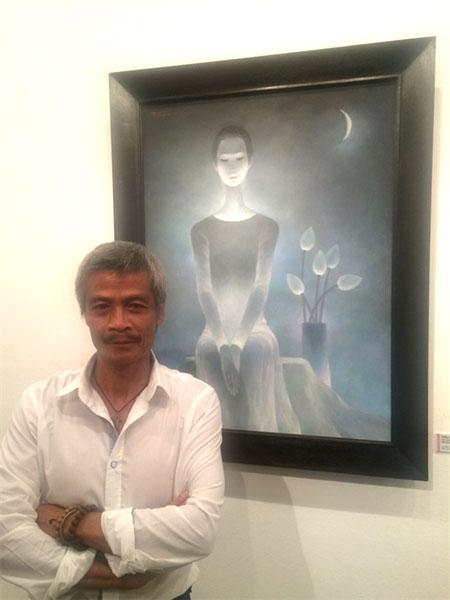 Overseas VN painter inspired by Vietnamese women wearing ao dai