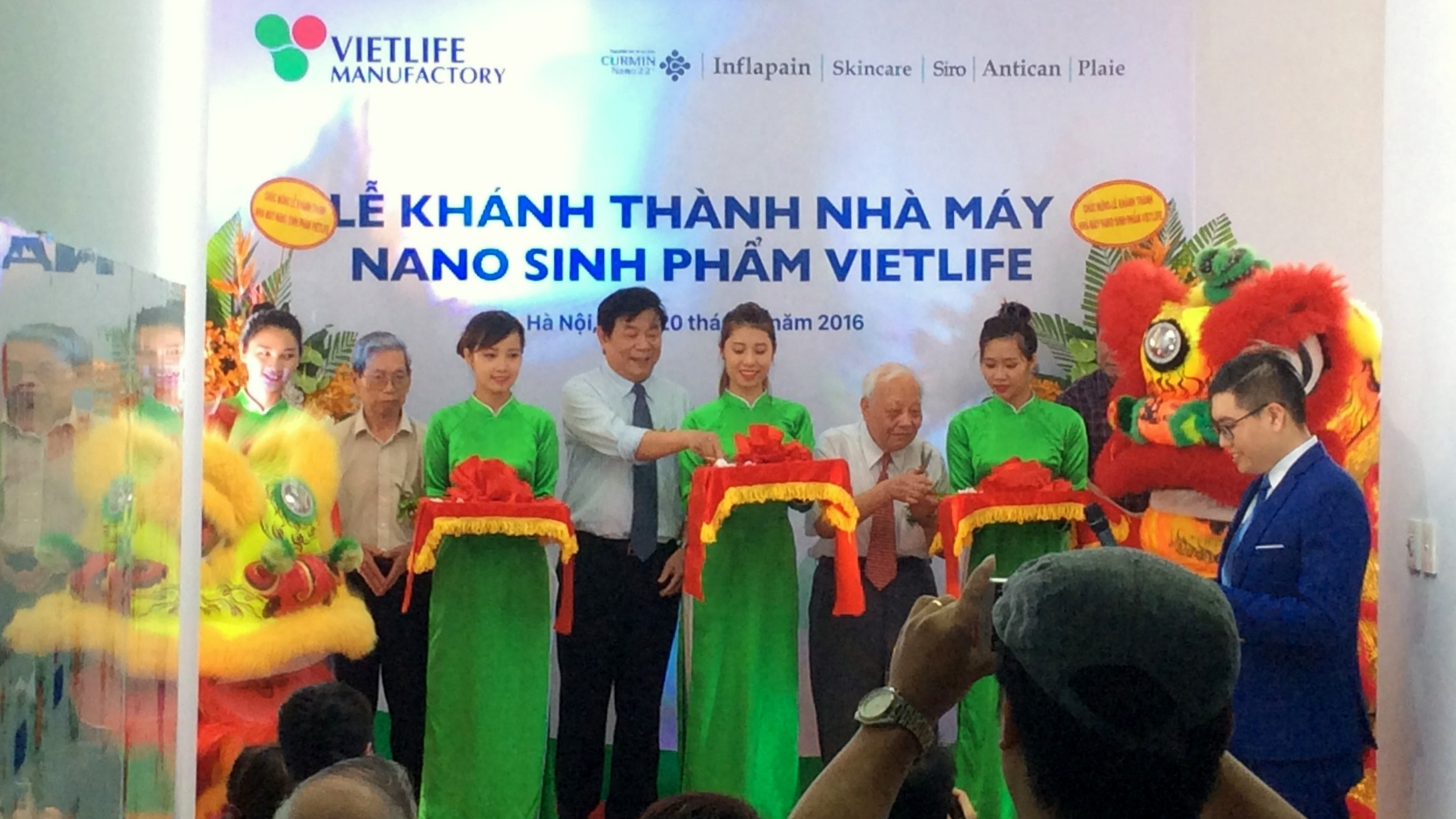Vietnam's first biological nano-product manufacturing line put into operation, IT news, sci-tech news, vietnamnet bridge, english news, Vietnam news, news Vietnam, vietnamnet news, Vietnam net news, Vietnam latest news, Vietnam breaking news, vn news