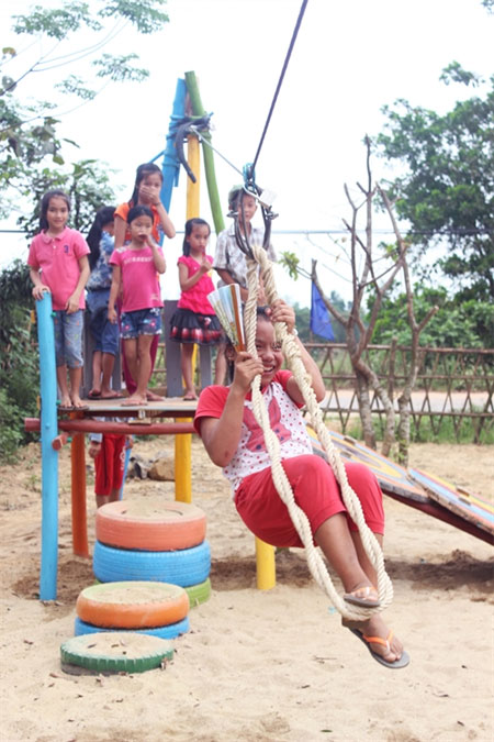 Design, eco-playgrounds, disadvantaged kids, recycled materials, Vietnam economy, Vietnamnet bridge, English news about Vietnam, Vietnam news, news about Vietnam, English news, Vietnamnet news, latest news on Vietnam, Vietnam