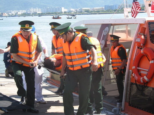 Disaster training exercises stage in Da Nang