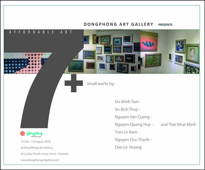 """The Affordable Art 2016 """"7+"""" is not only showing works by 7 artists and 1 sculptor, but also presenting the rich and diversified in materials and subjects that they use in their works."""