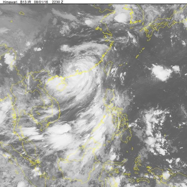 Typhoon 'Nida' weakened into low depression