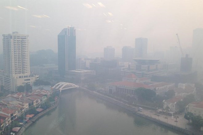 Singapore blanketed in haze