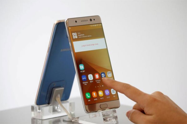 Samsung to cap Note 7 battery charge in South Korea via software update