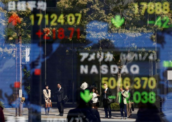Asian shares stumble as soaring US bond yields fuel outflow worries