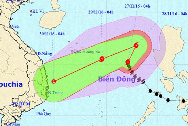 Typhoon Tokage to be weakened into tropical low pressure, social news, vietnamnet bridge, english news, Vietnam news, news Vietnam, vietnamnet news, Vietnam net news, Vietnam latest news, vn news, Vietnam breaking news