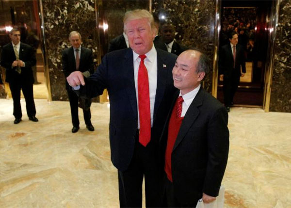 Trump claims $50 billion SoftBank investment due to his election win