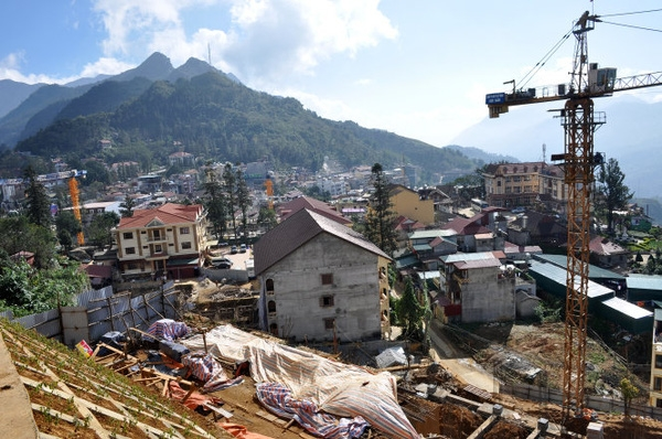 Idyllic Sa Pa turning into big construction site