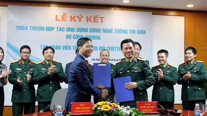 Industry & Trade Ministry, Viettel sign agreement to boost e-governance, e-commerce, IT news, sci-tech news, vietnamnet bridge, english news, Vietnam news, news Vietnam, vietnamnet news, Vietnam net news, Vietnam latest news, Vietnam breaking news, vn new