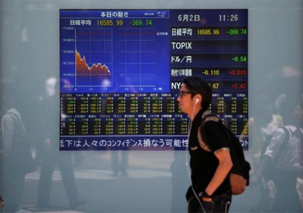 Asian shares, U.S. shares, U.S. economy