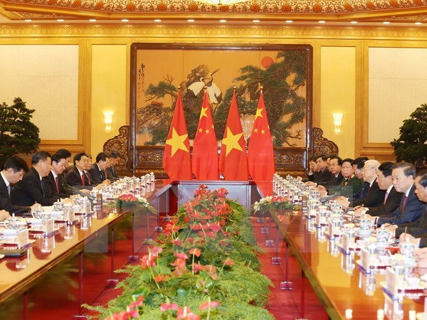 Party Chief Nguyen Phu Trong meets with his Chinese counterpart in Beijing, Government news, Vietnam breaking news, politic news, vietnamnet bridge, english news, Vietnam news, news Vietnam, vietnamnet news, Vietnam net news, Vietnam latest news, vn news