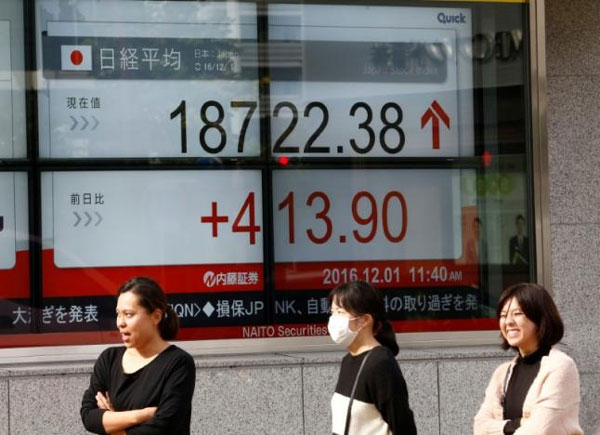 Asia stocks hover near three-month highs; sterling in spotlight