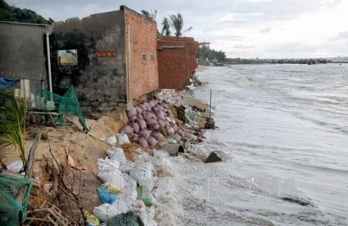 Coastal erosion threatens Binh Thuan