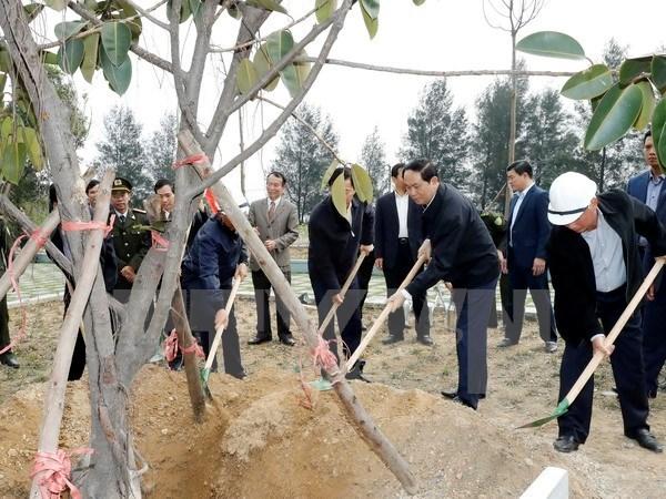 President calls for widespread response to tree planting festival, environmental news, sci-tech news, vietnamnet bridge, english news, Vietnam news, news Vietnam, vietnamnet news, Vietnam net news, Vietnam latest news, Vietnam breaking news, vn news