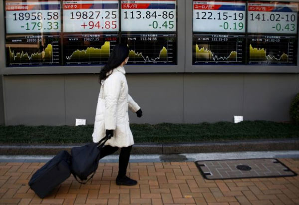 Asia shares down, Trump's economic policies, foreign exchange markets
