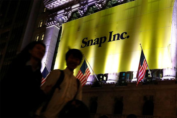 Snap tops expectations in pricing of long-awaited IPO