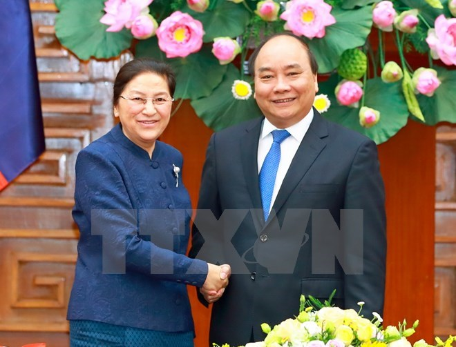 Prime Minister receives Lao National Assembly Chairwoman, Government news, Vietnam breaking news, politic news, vietnamnet bridge, english news, Vietnam news, news Vietnam, vietnamnet news, Vietnam net news, Vietnam latest news, vn news