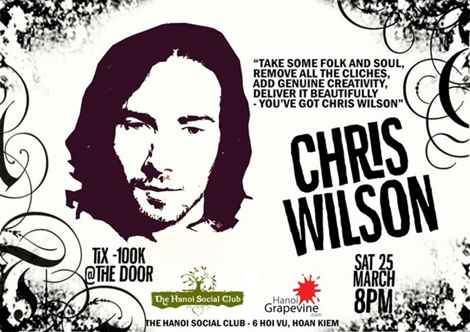 Live folk, soul and blues with Chris Wilson in Hanoi
