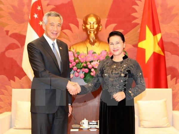 NA Chairwoman and Party Chief host Singaporean PM, Government news, Vietnam breaking news, politic news, vietnamnet bridge, english news, Vietnam news, news Vietnam, vietnamnet news, Vietnam net news, Vietnam latest news, vn news