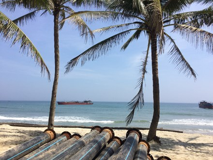 Illegal sand exploitation worsens erosion at Cua Dai Beach, environmental news, sci-tech news, vietnamnet bridge, english news, Vietnam news, news Vietnam, vietnamnet news, Vietnam net news, Vietnam latest news, Vietnam breaking news, vn news