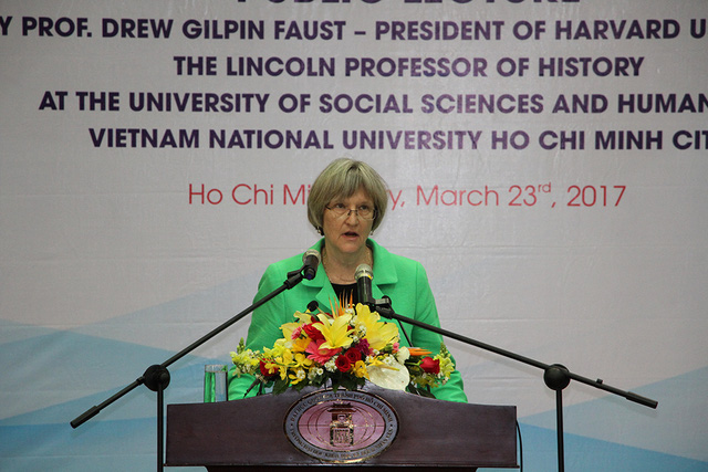Vietnam: A country, not a war: Harvard president