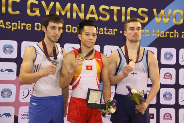 Vietnamese gymnast nabs gold at world event
