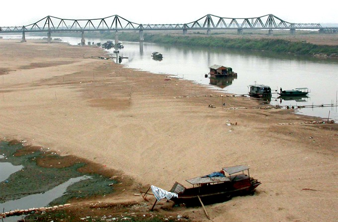 Falling Red River water levels hurting VN agriculture, environmental news, sci-tech news, vietnamnet bridge, english news, Vietnam news, news Vietnam, vietnamnet news, Vietnam net news, Vietnam latest news, Vietnam breaking news, vn news