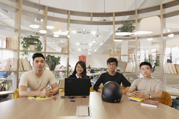 Smart helmet wins Kawai Business Startup