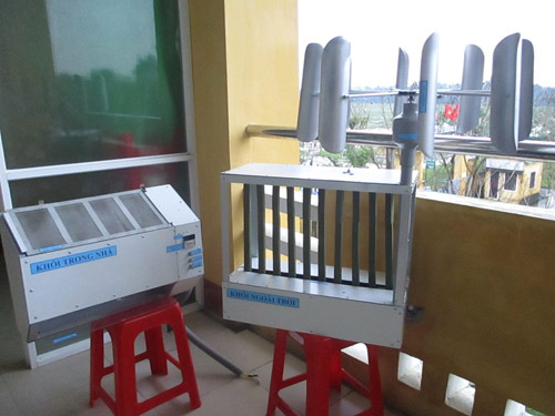 Secondary school students turn wind into air conditioners