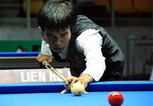 Vietnam's player Quyet Chien crashes out of billiards World Cup