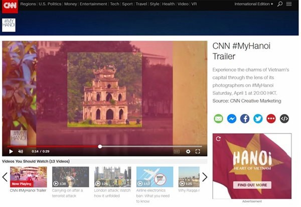 "CNN broadcasts ""My Hanoi"" program, travel news, Vietnam guide, Vietnam airlines, Vietnam tour, tour Vietnam, Hanoi, ho chi minh city, Saigon, travelling to Vietnam, Vietnam travelling, Vietnam travel, vn news"