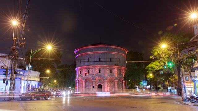 Netherlands assist Hanoi in colourful illumination of ancient water tower