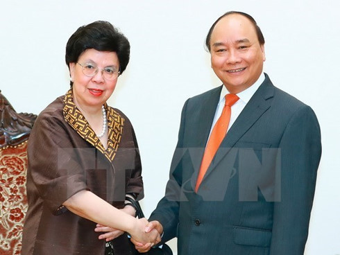VN Prime Minister meets WHO leader in Hanoi