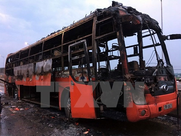 Nghe An, bus caught fire, bus destroyed, Vietnam economy, Vietnamnet bridge, English news about Vietnam, Vietnam news, news about Vietnam, English news, Vietnamnet news, latest news on Vietnam, Vietnam