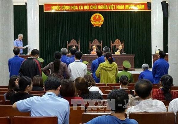 Hanoi court sentences 11 in Agribank swindling case