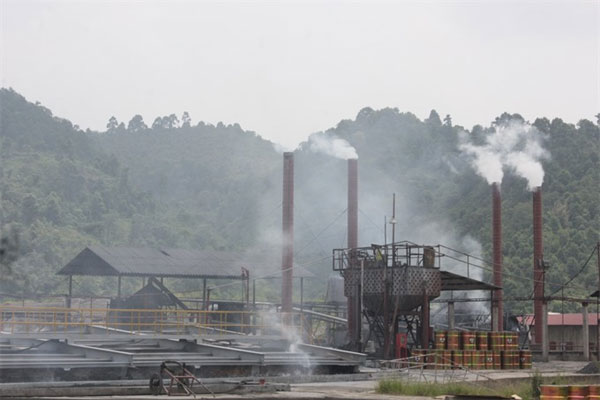 Environment is polluted in Tang Loong Industrial Zone in northern mountainous Lao Cai Province.— Photo tinmoitruong.vn